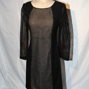 NWOT Catherine Malandrino black mesh dress